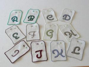Monogrammes deuxième partie de l'alphabet pour faire son choix de couleurs, d'initiale