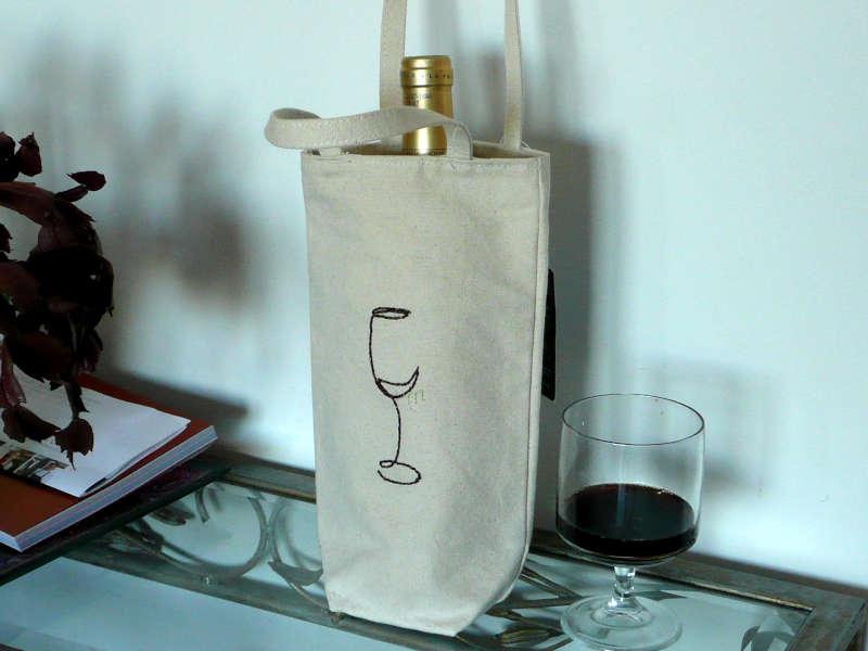 porte bouteille en tissu de coton equitable